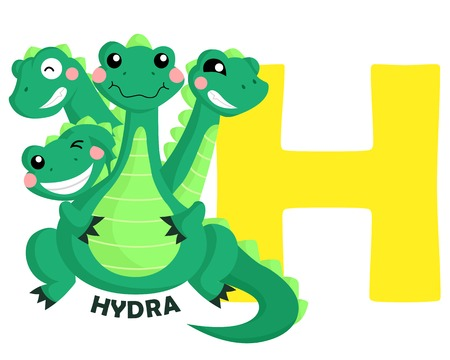 hydra: H for Hydra Illustration