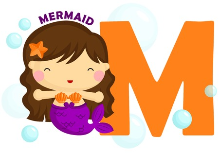 M for Mermaid Vector