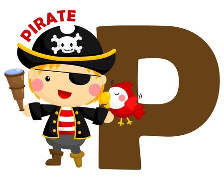 P Pirate Banque d'images - 30393156