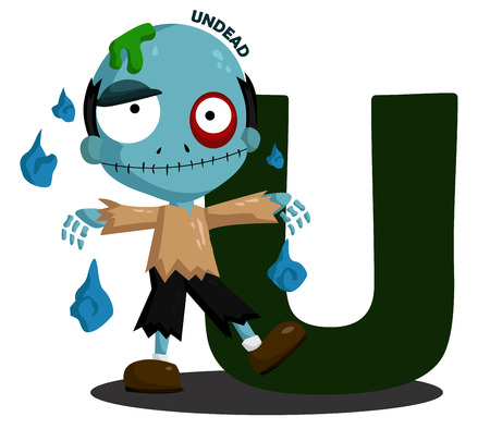 undead: U for Undead Illustration