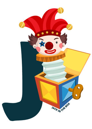jack in a box: J for Jack in the Box Illustration