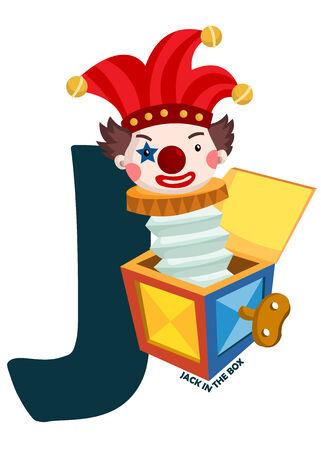 J for Jack in the Box Illusztráció