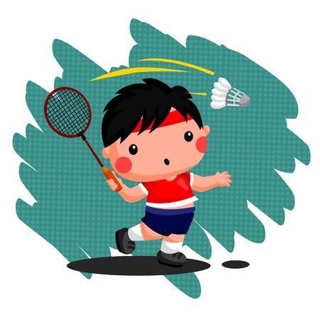 Badminton Illustration