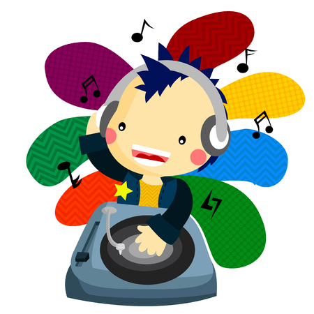 music dj: Music DJ Illustration