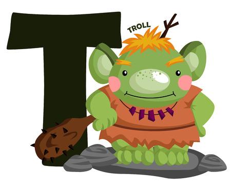 T for Troll Illustration