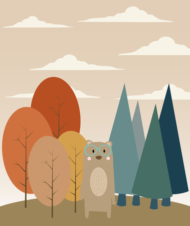 Bear in Forest Vector