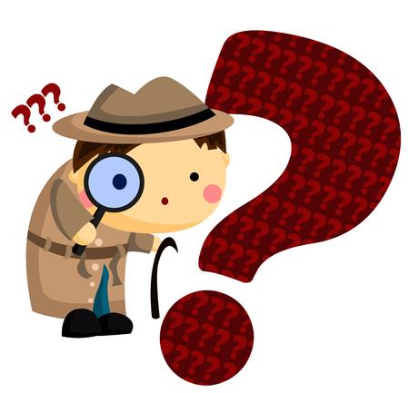 curiosity: Man Curiosity illustration