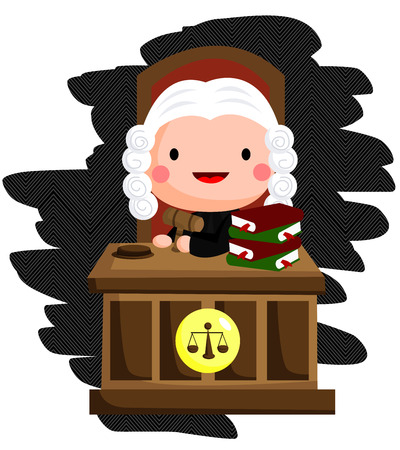 black wigs: Judge illustration