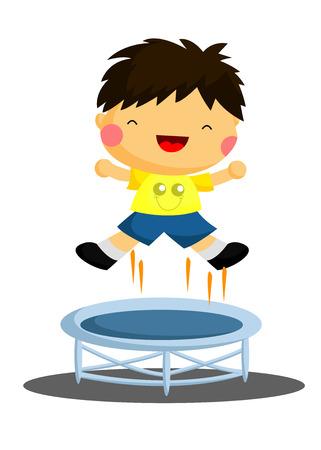 Jumping Boy Illustration
