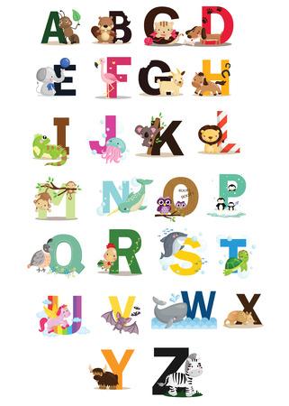 Animal Letter Vector Set