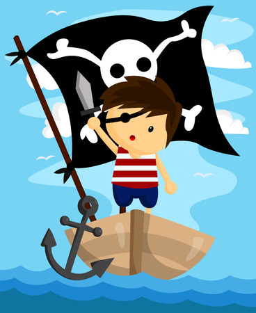 Kid Pirate Vector