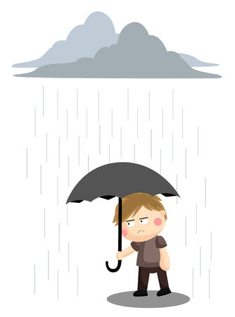 gloomy: Gloomy Rain Illustration