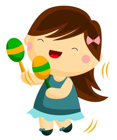 maracas: Maraca Player Illustration