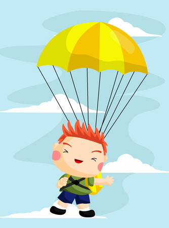 parachuting: Parachuting Illustration