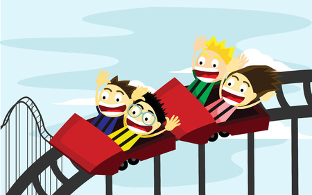 roller coaster: Roller Coaster Ride Illustration