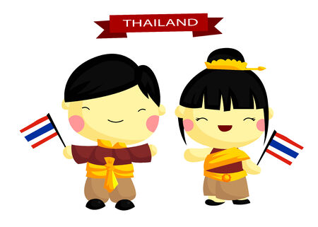 golden hair: Thailand Traditional Costume