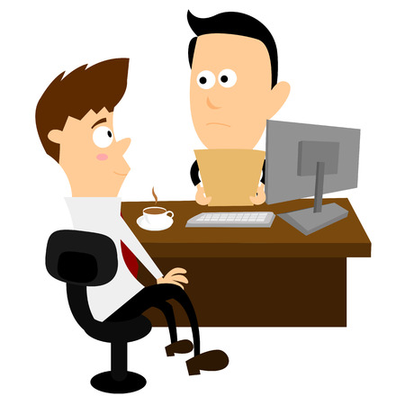 interviewer: Job Interview Illustration