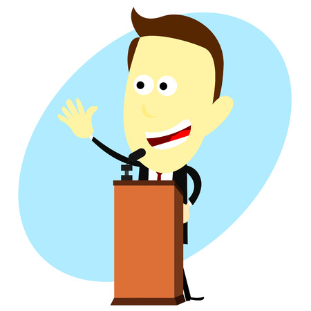 oratoria: Dibujos animados Speech Vectores