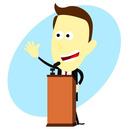 oratory: Speech cartoon