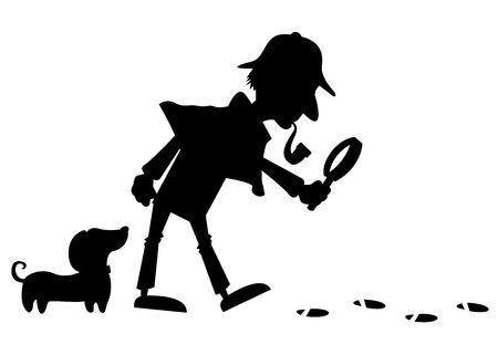 Detective Silhouette Çizim