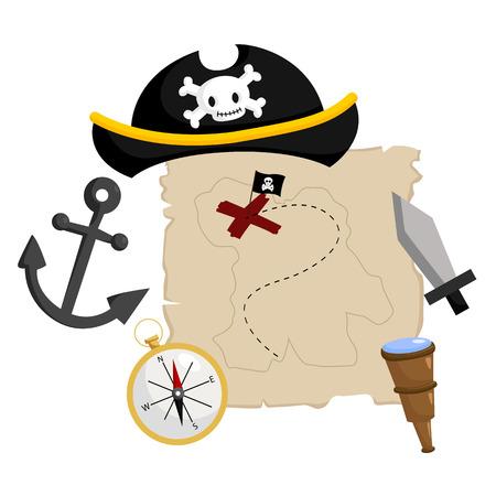 Piraat Stuffs Stock Illustratie