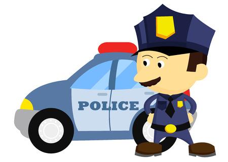 gorra policía: Policía