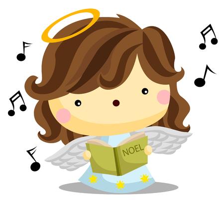 angel: Angel Singing Illustration