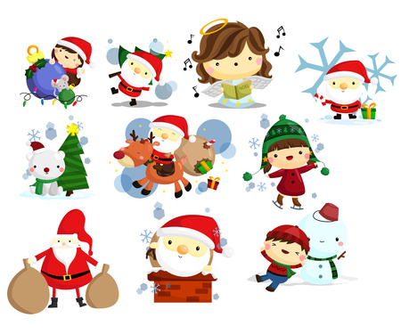 Christmas, Holiday, and Winter Vector Set Vector