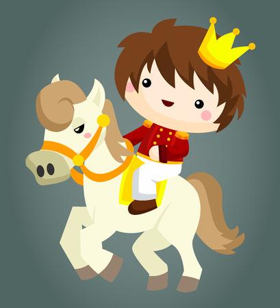 prince: Principe e Cavallo Vettoriali