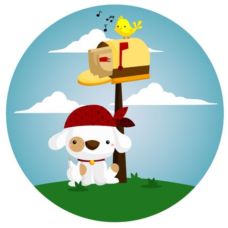 guarding: Mailbox Dog