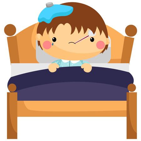 Sick Boy in Bed