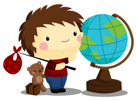 Travel Boy Ilustrace