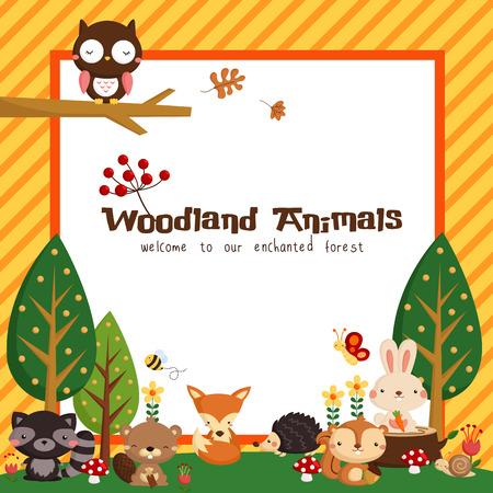 animais: Woodland Cart Ilustração
