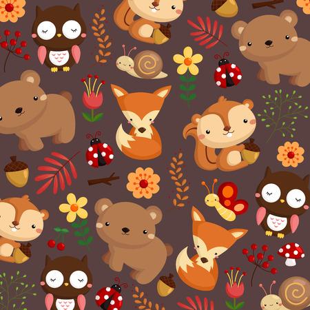 mushroom cartoon: Woodland Dark Background