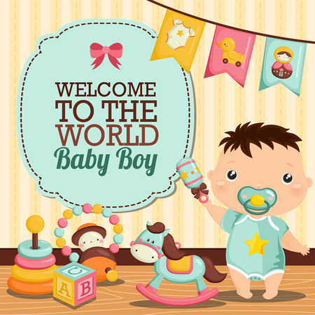 赤ちゃんの部屋  イラスト・ベクター素材