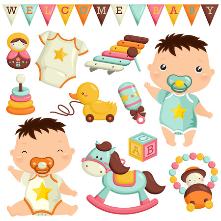 baby toys: Baby Toys Vector Set