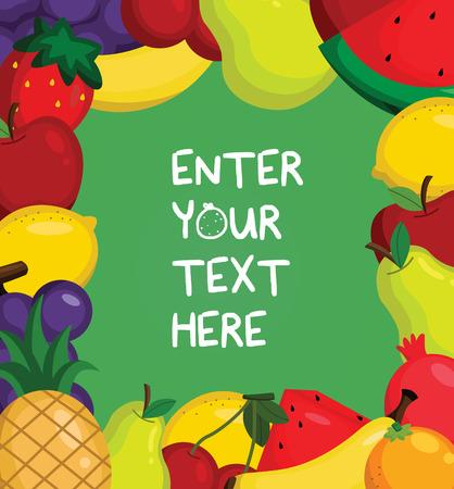 Fruity Card Vector