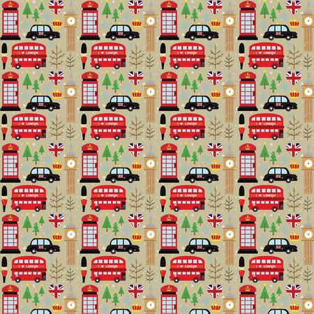 London Winter Background Vector