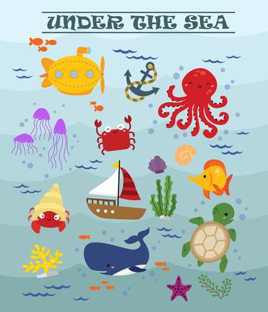 tortuga: Bajo el mar Vectores