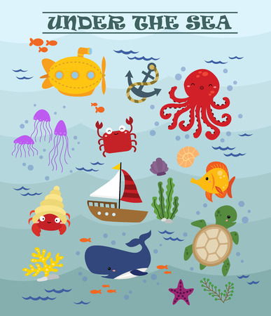 under the sea: Under The Sea Illustration