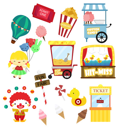 fun fair: Carnival Vector Set