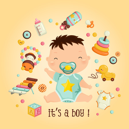 Baby boy vector Stock Illustratie