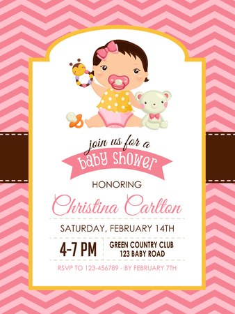 bee party: Baby Shower Girl Invitation