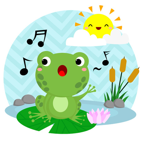 lily pads: Singing Frog