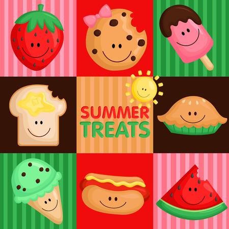 treats: Summer Treats Illustration