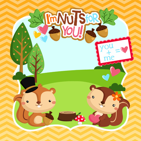 Nuts for You Vectores