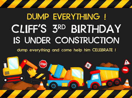 heavy construction: Construction Birthday Card