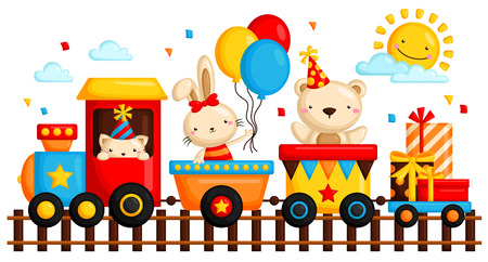 train cartoon: Birthday Train
