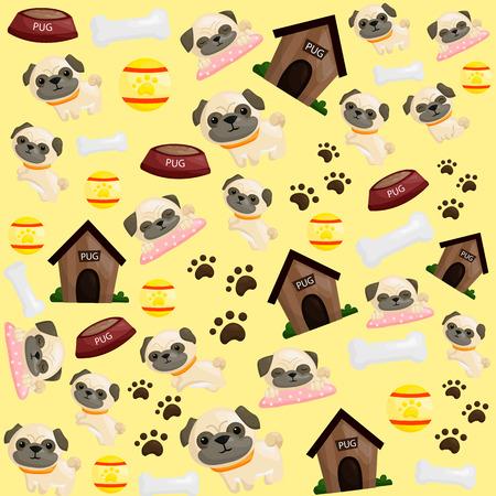 pug: Pug Puppy Background
