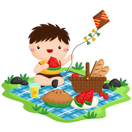 Picnic Boy Ilustração